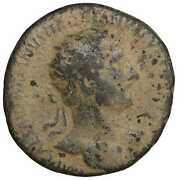 Hadrian Dupondius Old Ancient Roman Coin Rome Empire Imperial Coins Authentic