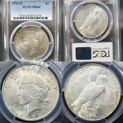 Very Nice 1923-d Peace Silver Dollar 1 Pcgs Ms-64 Kve Investments, Llc