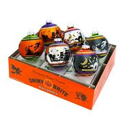 Christopher Radko Ornaments - Halloween Signature Flocked Rounds 6 Count 4026976