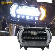 Led Headlight Projector Front Turn Signal Light Kit For Harley Road Glide 15-20
