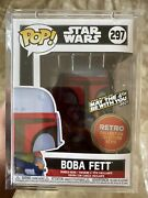 Funko Pop Star Wars Boba Fett 297 Retromay The 4th Be With You Edition Le 6