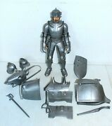 Marx Sir Stuart Silver Noble Knight In Armor + Armored Horse Pieces Johnny West
