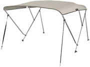 Msc 3 Bow Bimini Top Boat Cover With Rear Support Pole And Storage Boot Color 3