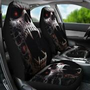 Set Of 2 Gothic Grim Reaper Awesome Car Seat Covers Skull Car Seat Cover Gothic