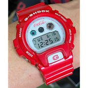 G-shock Limited Dw-6900 Watch Ape Coca-cola Collaboration Bespoke Red