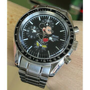 Beams Mickey Collaboration Watch Over The Stripes Limited Disney Black