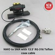 Lip Mount 2-axis Adjustable Antenna Vehicle Mount Nmo To Sma Off-road Truck Car