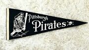 Rare 1940s-50s Vintage Pittsburgh Pirates Pennant Flag