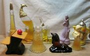 Lot Of Nine Vintage Avon Fragrances In Collectible Bottles 75 To 100 Full Vg