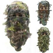 Ghillie Breathable Mask Face Camo Camouflage Leaves Wood Paintball Hunting Masks