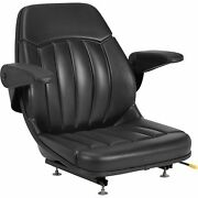 Michigan All-weather Tractor Seat With Armrests - Black, Model V-930