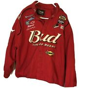 Chase Drivers Line Budweiser King Of Beers Nascar Dale Earnhardt Jacket 2xl