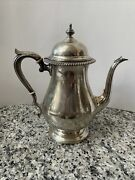 Fisher Silversmiths Kent Sterling Silver Holloware Teapot Etched Monogram