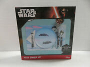 Hoth Dinner Set Star Wars Plate, Placemat, And Silverware - Disney Nib