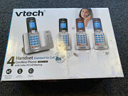 Vtech 4 Cordless Phones And Handsets Connect To Cell Call Id And Waiting New Sealed