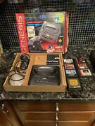Sega Genesis Sonic 2 Console System W Controller And 6 Games And Game Genie Tested