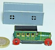 Superb Penny Toy Tin Plate Limousine And Garage Made In Germany 1920s
