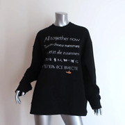 Stella Mccartney The Beatles All Together Now Sweatshirt Black Size 42 New