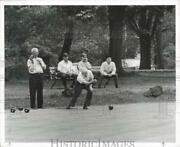 1968 Press Photo Alex Mcarthur And Matthew Fleming Bowling On The Green In Nj
