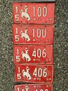 Wyoming License Plates 1938 To 1975