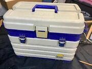 Nice Used Plano 4 Drawer System Tackle Box Blue White 758 758 Ships Free
