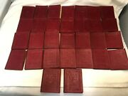P208 Little Leather Library 30 Volume Red Set Miniature Books Robert K Haas 1924
