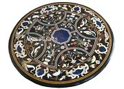 Round Stone Dining Table Top Marquetry Art Restaurant Table From Cottage Art 48
