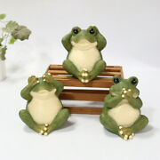 Cute Garden Miniature Expression Frog Animal Statues Home Decor Collectibles