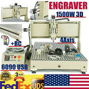 Usb Cnc 4 Axis 6090 Router Engraver 3d Engraving Machine With Remote Controller