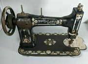 White Family Rotary Treadle Sewing Machine - Head Turns - For Parts Or Repair