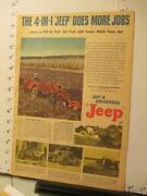 Newspaper Ad 1947 Willys Overland Universal Jeep Automobile Farm Ranch Orchard