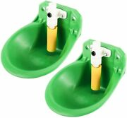 2pcs Plastic Abs Automatic Dog Waterer Bowl Farm Water Trough Auto Drinking Bowl