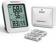 Digital Lcd Hygrometer Humidity Indoor Outdoor Thermometer Temperature Monitor