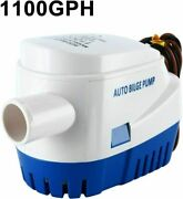 1100gph Automatic Submersible Boat Bilge Pump Float Switch Anti-fouling Impeller