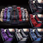 Us Colorful Luxury Leather Car Seat Covers Thicken Car Cushion Interior Full Set