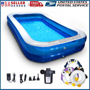 Inflatable Swimming Pools Above Ground Pool With Air Pump Kids Family Outdoor Us