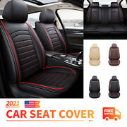 Car Accessories Leather Seat Covers Full Set Truck Suv Sedan Front Rear Cushions