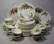 Royal Doulton China Arcadia H4802 Pattern 56-piece Set Service For 12 Brown Mark