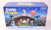 New Fisher Price Little People Deluxe Christmas Story Kid Toy Nativity Scene Set