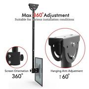 Ceiling Mount Tv Wall Bracket Roof Rack Pole Retractable For 32-55flat Screen