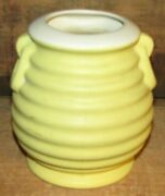 Vintage 1930's Coors Pottery Yellow Ring Coil Vase-nice