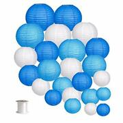 24pcs Round Paper Lanterns For Wedding Birthday Party Baby Showers Decoration...