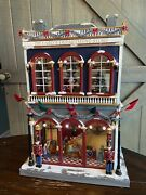 """Mr Christmas Dillard's Department Store Animated Village 21.5"""" Extremely Limited"""