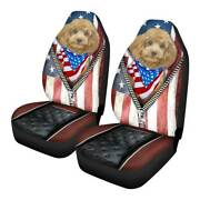 Cute Dogs 2pcs Car Front Seat Covers Universal Fit Truck Cushion Protectors 1