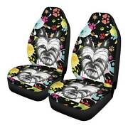 Cute Dogs 2pcs Car Front Seat Covers Universal Fit Truck Cushion Protectors 3