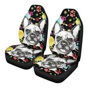 Cute Dogs 2pcs Car Front Seat Covers Universal Fit Truck Cushion Protectors 5
