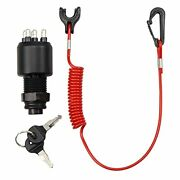 Vozinmost Ignition Key Switch And Safety Lanyard Assembly For Johnson Evinrude ...