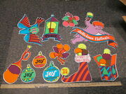 Baskin Robbins Ice Cream 1970s Christmas Psychedelic 11 Store Display Sign 2