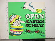 Baskin Robbins Ice Cream 1976 Store Sign Easter Bunny Egg Cracking 2s-xc