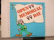 Baskin Robbins Ice Cream 1977 Store Sign Memorial Day Army Soldier Flag 2s-xb